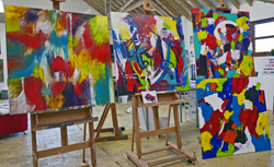 6 month abstract painting weekends