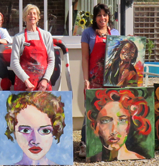 creative portrait painting weekends