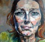 Begin portrait painting in oils